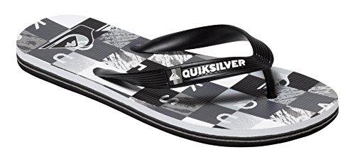 Quiksilver Molokai Check R B Sndl Xksw, Tongs garçon Gris (Black/Grey/White)
