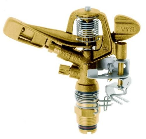 Geka 604424SB Arroseur Canon Rotatif/par Secteur V60, Argent/Or, 18 x 8 x 13 cm