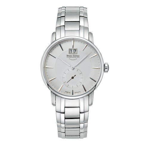 Bruno Söhnle Herren Analog Quarz Uhr mit Edelstahl Armband 17-13055-242