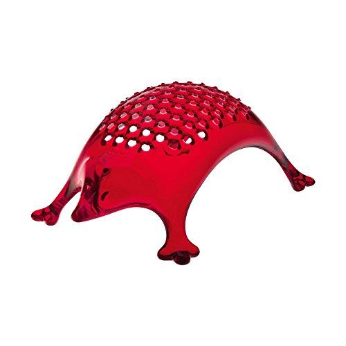 grattugia in plexiglass trasparente colore rosso