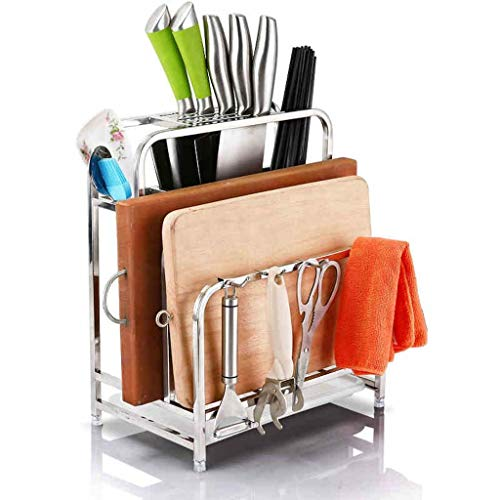 Yuang Edelstahl Amboss Teller Dishboard Sitz Küchenregal Wandbehang Storage Supplies Küc