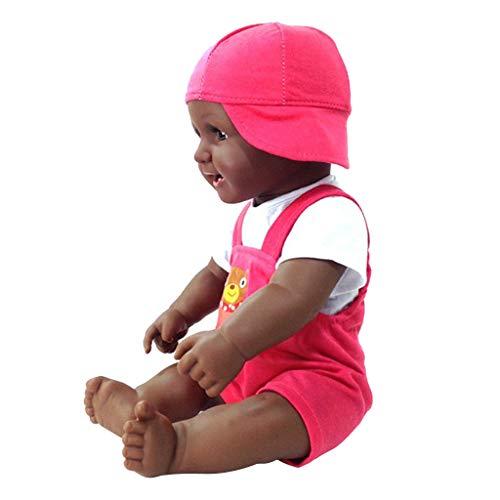 Baoblaze Babypuppen Afrikanische Baby Puppen Kinder Puppen Spielzeug - sport kleidung