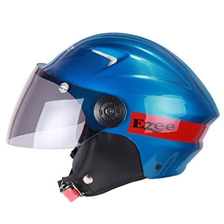 Sunny Ezee Half face Helmet for Men,Women,Girls,and Boys Helmet (Blue, Medium)