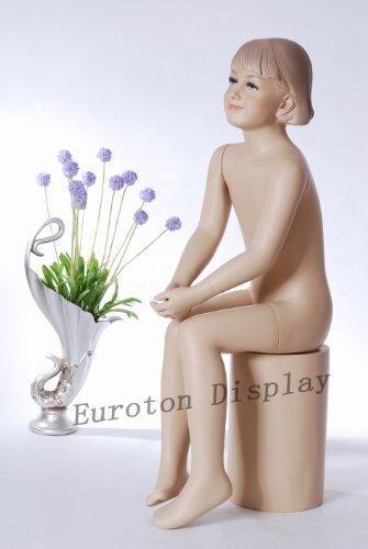 TonHan BB-13 Schaufensterpuppe Mädchen Kind. Hautfarbe sitzend schick modern. Modellierte Frisur -