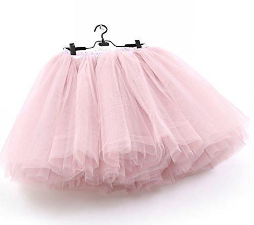 SCFL Frauen Tutu Rock Petticoat Underskirt Ballett Rock Half (Tutu Pirat)