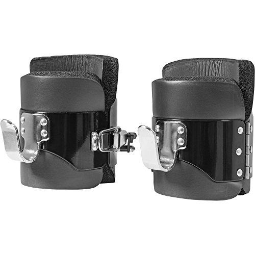 GORILLA SPORTS® Gravity Boots Schwarz mit Sicherheitsverschluss - bis 250 kg belastbar