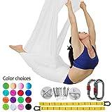 Aerial Yoga Hammock Set Anti-Schwerkraft Yoga Swing elastische Yoga Hängematte Keine Nähte (Weiß)