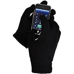 Toutacoo, Gants Tactiles (10 doigts) EN LAINE pour Smarphones et Tablettes