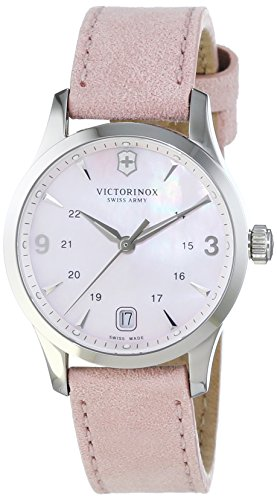 Victorinox Swiss Army Women's Quartz Watch with Black Dial Analogue Display Quartz Leather 241663