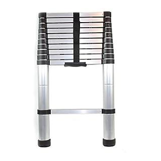 Nestling® Multi-Purpose Folding Extensionable Telescopic Aluminium Ladder (2.6/2.9/3.2/3.8M foldable) (3.2m)