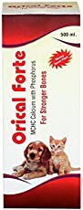 Orical Forte Calcium Syrup with Vitamins for Dogs/Cats and Pups/Kitten 500 ml