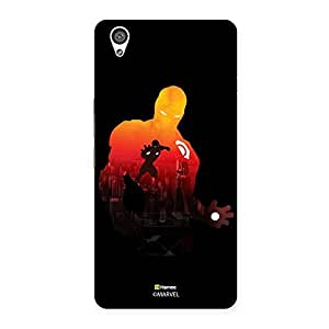 Hamee Marvel Oneplus X Case Cover Black Iron Man Shadow