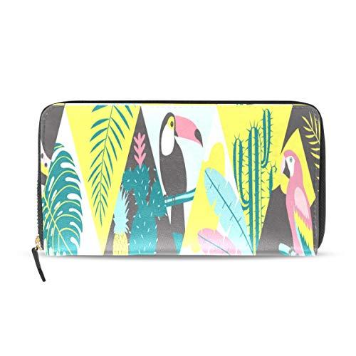 Enhusk Mosaik Sommer Flamingo Lange Pass Kupplung Geldbörsen Reißverschluss Brieftasche Fall Handtasche Geld Organizer Tasche Kreditkarteninhaber Für Dame Frauen Mädchen Männer Reise Geschenk -