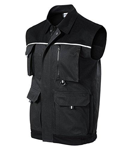 Herren Arbeitsweste Woody Arbeitskleidung / Weste (M, grau)