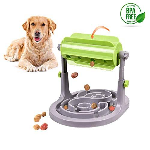 Alsanda Interaktives Hundepielzeug Futter Napf 2in1 für Hunde und Katzen | Gesunder Snackspender | Intelligenzspielzeug für Hunde | Mit Anti Schling Napf | Hundenapf