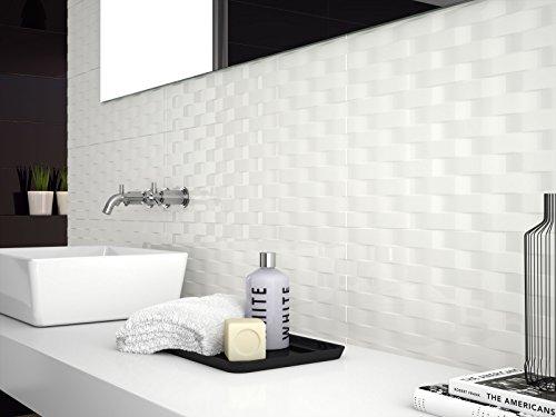 marazzi Soul Waves White Gloss 25X 76cm D726Monótono porcelanato azulejos para Hogar Baño Cocina Le exterior en Oferta günstiger de Italia bad39