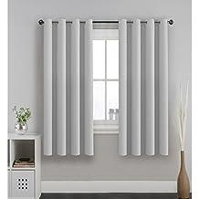 H.Versailtex Vorhang Verdunkelung Ösen Gardinen Schlafzimmer Thermogardine  Ösen,Energiespar U0026 Wärmeisolierend U2013 Grau