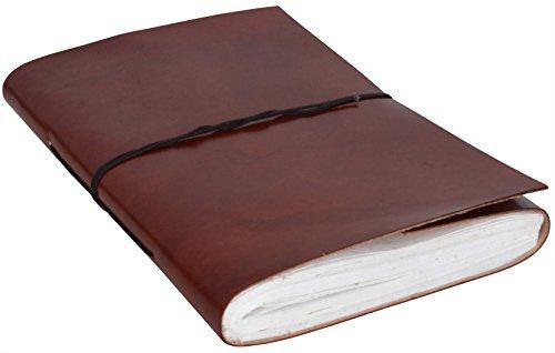 Gusti Leder nature ''Audrey'' Lederbuch Buch DIN B5 Notizblock Rindsleder Echtleder Tagebuch...