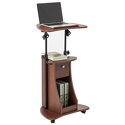 (PENGFEI Laptop Betttablett Tragbare Stehen Multifunktion Podium Konferenzraum Bücherregal Höhenverstellbar Desktop Kann Gekippt Werden 2 Farben, 550x400MM (Farbe : Braun))