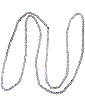 KELITCH Handgemacht Halskette Matt Hemätit Kupfer Granulat Lange Kette