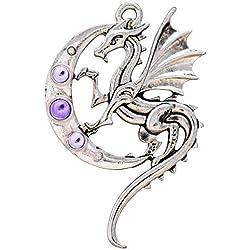 Eastgate Resource Luna Dragón Colgante/Collar para la Fuerza en el Viaje de la Vida