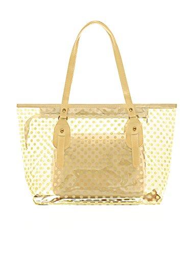 allegra-k-woman-dots-print-transparent-zip-closure-panel-design-tote-w-bag-beige