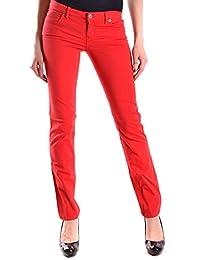 Alexander Mcqueen Femme MCBI014001O Rouge Coton Jeans