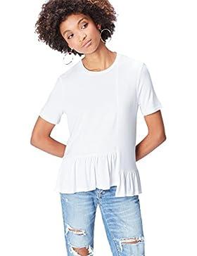 FIND Camiseta con Volantes Para Mujer