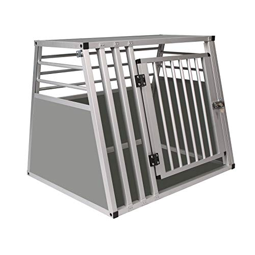 Elightry Alu Hundetransportbox Autotransportbox Kofferraumbox Gitterbox Hundebox Autobox für Haustier