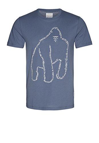 886c7648c325c5 5. armedangels Herren T-Shirt Aus Bio-Baumwolle - James Wordy Gorilla - XL  Indigo Blue Fairtrade