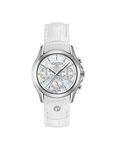 Roamer Damen Multi Zifferblatt Quarz Uhr mit Leder Armband 203901 41 10 02