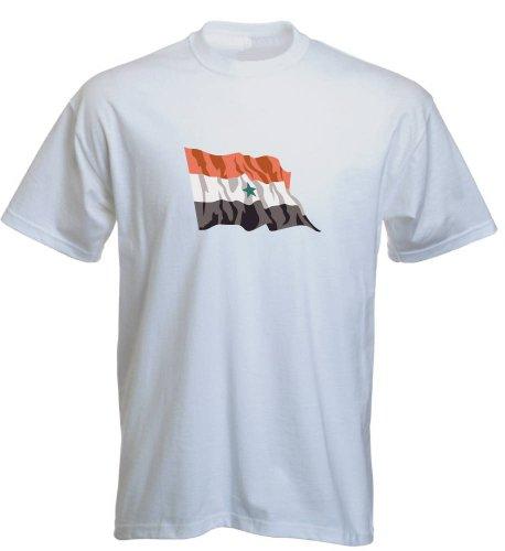 T-Shirt für Fußball LS198 Ländershirt mehrfarbig Yemen - Jemen Fahne Weiß