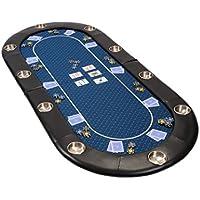 Riverboat Faltbare Pokerauflage mit wasserabweisenden Stoff und Tasche - Blau Pokertisch 200cm