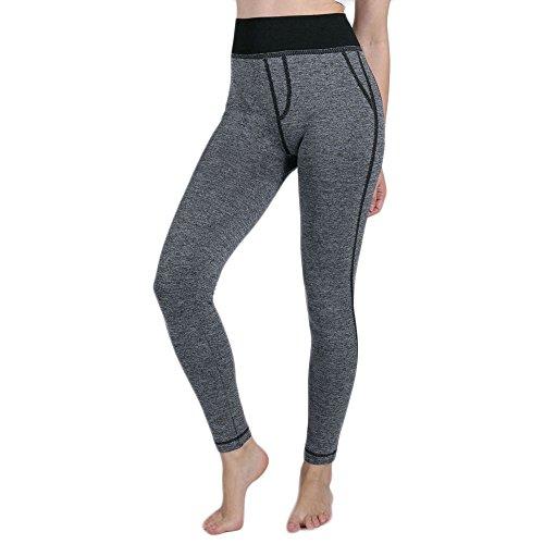 Body Female Tasche Kostüm - kolila Womens Yoga Pants Leggings Hohe Taille Stretchy Badycon Workout Leggings Gefälschte Tasche Bein Body Shaper Dünne Hose(Schwarz,L)