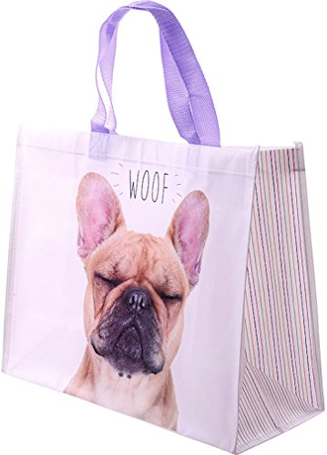 'Alla moda borsa shopping, design: Bulldog francese/Cane