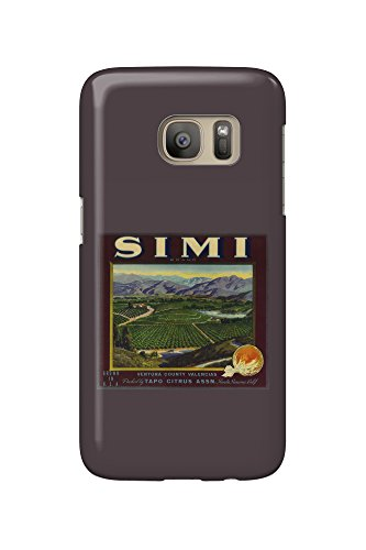 Simi Orange - Vintage Crate Label (Galaxy S7 Cell Phone Case, Slim Barely There) (Crate Label)