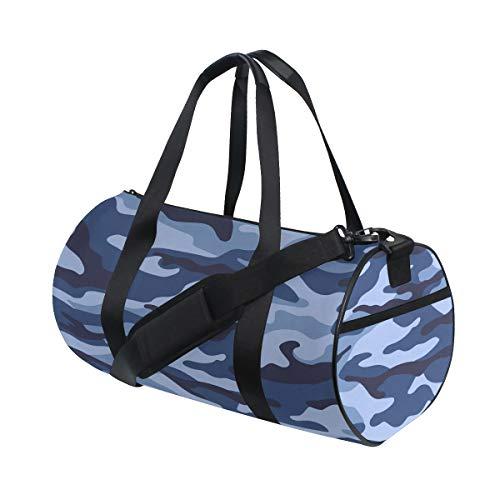 Tarnung schützende militärische kühle Art benutzerdefinierte Multi leichte große Yoga Gym Totes Handtasche Reise Canvas Seesäcke mit Schulter Crossbody Fitness Sport Gepäck für Jungen Mädchen Womens -
