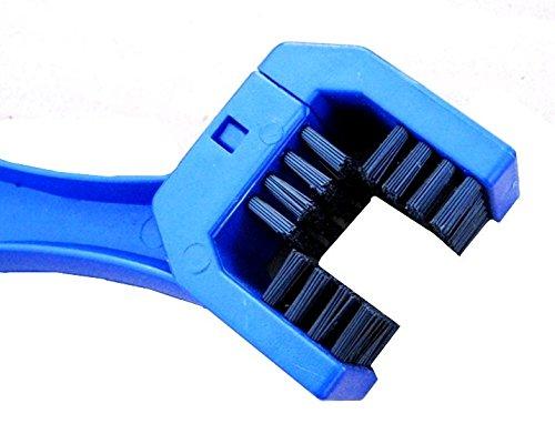Der&Dies Fahrrad Reinigungsbürste / Fahrradreiniger / Kettenreiniger / Ketten-Reiniger für Fahrrad,Motorrad und andere Ketteninnenlager und Kettentriebbuchsen Pflege und Reinigung.(Blau) - 2