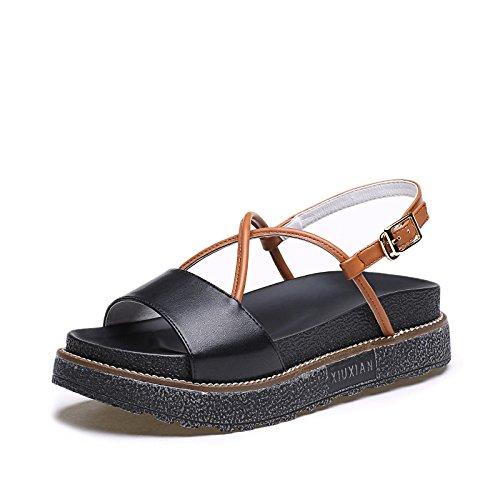 ZPPZZP Ms sandali con in stile romano con spesse con 38EU
