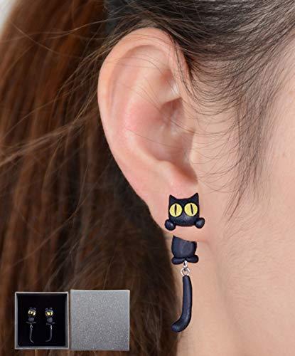 Gudotra Pendientes de Joyería de Mujer Pendientes de Gato del Aretes Dibujos Animados Retro
