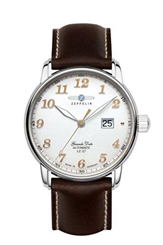 Zeppelin Montre bracelet Mixte Chronographe Quartz Cuir 7652–4