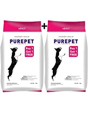Purepet Chicken and Milk Adult Food, 1.1 kg (Buy 1 Get 1 Free)
