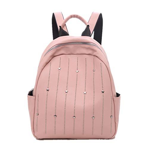 Kostüm Batgirl Rosa Kind - EVAEVA-bags Damen Rucksack,PU Leder Rucksack Schulrucksäcke Reise Daypacks Tasche Schulranzen Damen Elegant PU Leder Rucksack Mädchen für Frauen (Rosa)