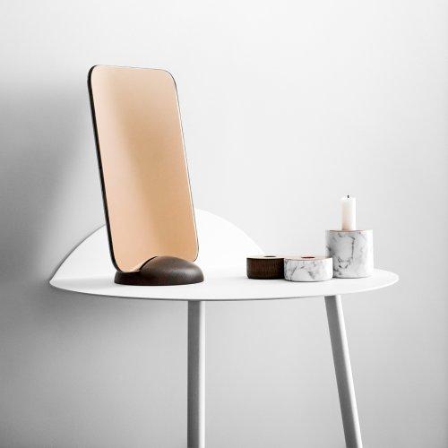 Menu 5610039 Kerzenständer Chunck aus Holz, M, Messing, Höhe 7 cm, Durchmesser 8 cm - 5
