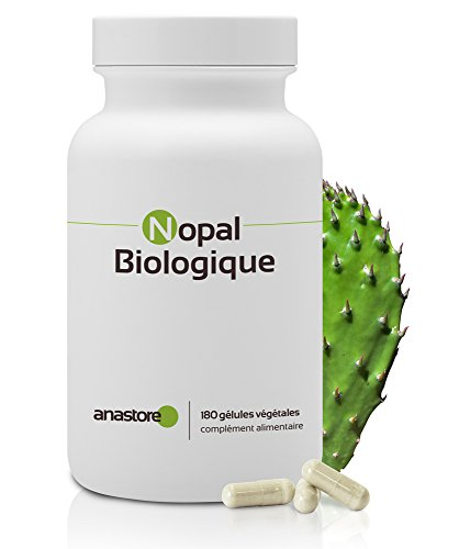 Nopal BIO* 470 mg / 180 gélules * Pour contrôler son poids * Titré à 40% min. en fibres *Fabriqué en FRANCE