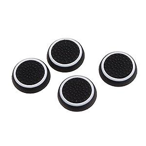HSL Silikon Thumbsticks Joystick Mutzen Cover fur PS3 / PS4 / XBOX ONE / XBOX 360 Wireless Controller 2 Pair / Weiss und Schwarz