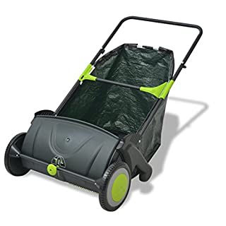 vidaXL Outdoor Garden Power Lawn Sweeper Leaf Grass Collector Remover 103 L