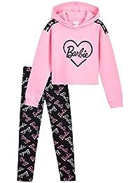Barbie Chandal Niña, Ropa Niña de Algodon, Set de Sudadera con Capucha y Leggins Niña, Sudadera Niña Rosa, Regalos para Niñas y Adolescentes 4-14 Años