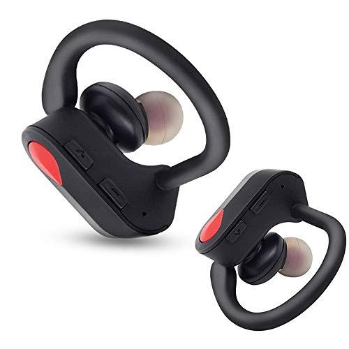 YYJY TWS Kabelloser binauraler Bluetooth-Kopfhörer Ohrbügel-Kopfhörer Sport-Bluetooth-Headset mit Mikrofon für alle Smartphones,Red 665 Wireless Bluetooth