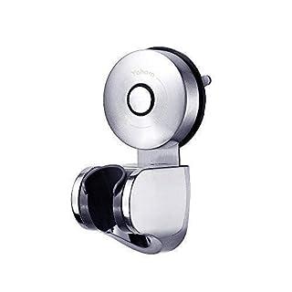 YOHOM 304 Stainless Steel Strong Vacuum Suction Cup Adjustable Handheld Shower Head & Bidet Sprayer Holder,Removable Wall Mounted Bracket Shower Handset Holder for Bathroom Hotel,Brushed Finish